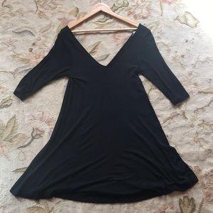 ASOS low V neck quarter sleeve dress